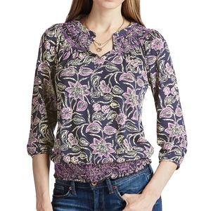 Lucky Brand Batik Marel Top size XL // O37